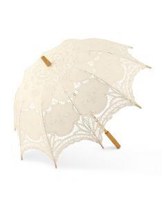 Antiqued Battenburg Lace Parasol - Standard
