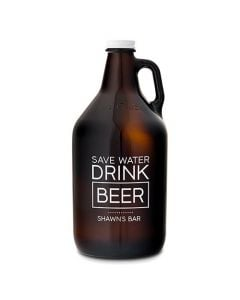 Personalized Glass Beer Growler - Drink Beer Print