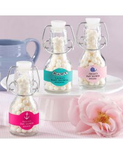 Baby Glass Favor Bottle with Swing Top (Set of 12) (available personalized)