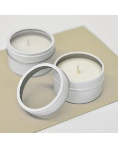 DIY Blank Round Candle Tins
