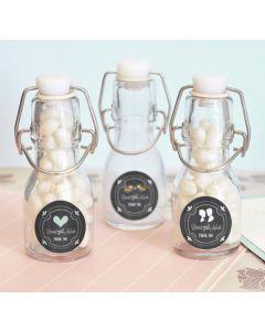 Chalkboard Wedding Personalized Mini Glass Bottles