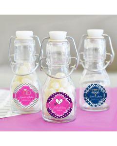 Theme Personalized Mini Glass Bottles