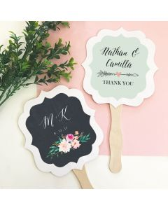 Personalized Floral Garden Paddle Fans