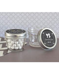 Chalkboard Wedding Personalized Small 4 Ounce Mason Jars