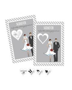 Bride Groom Scratch Off Game Cards (Set of 12)