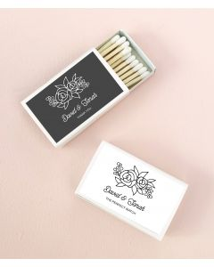 Floral Silhouette Matchboxes (set of 50)