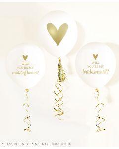 Bridesmaid & Maid of Honor Balloon Card Kit (set of 4)