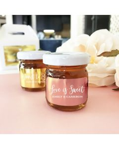 Personalized Foil Honey Jars Gold, Silver, Rose