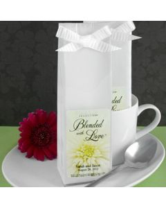 Personalized Gourmet Coffee 2 Ounce Soft Packs White