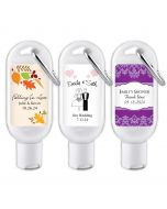 Personalized Hand Sanitizer Favors with Carabiner
