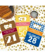 Adult Birthday Stainless Steel Credit Card Bottle Openers