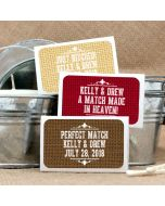 Personalized Matches - White Box Silhouette Collection (Set of 50)
